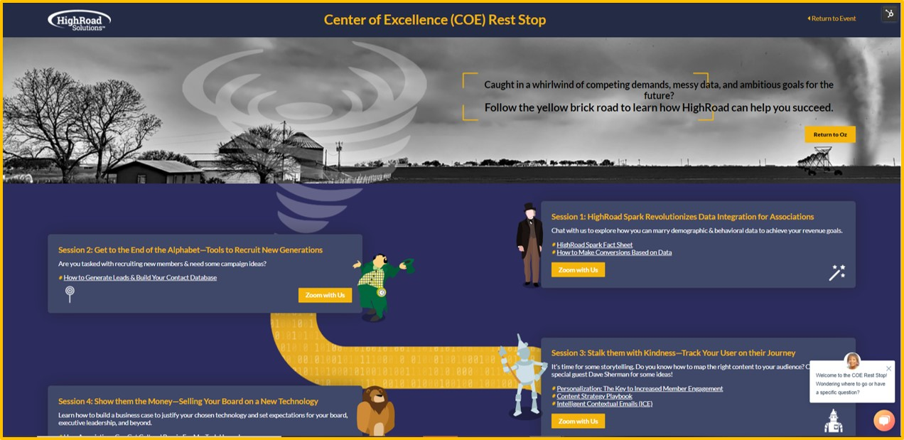 COE Rest Stop Landing Page